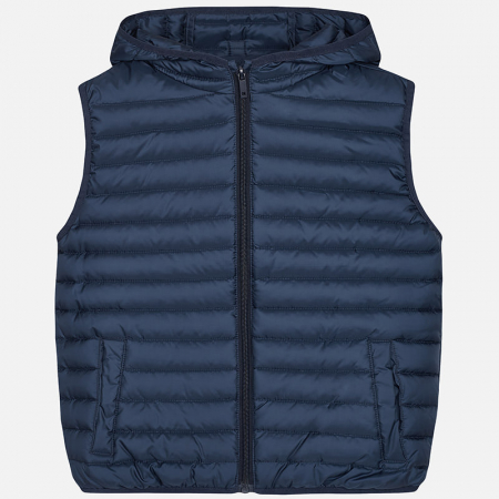 detail BOY'S QUILTED HOODED VEST