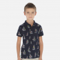 náhled  Boy's printed short-sleeved polo shirt